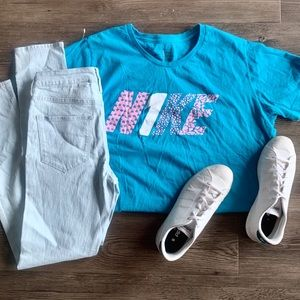Blue & Pink Nike Graphic Tee